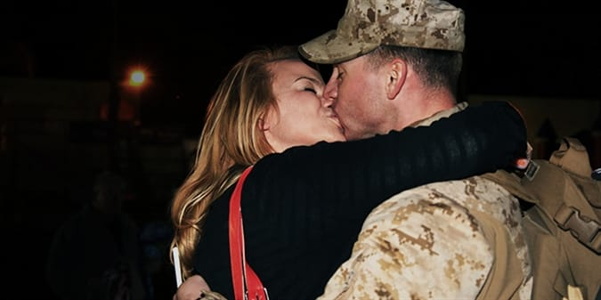 10 Military Homecoming Photos for Getting in the Valentine's Day Mood