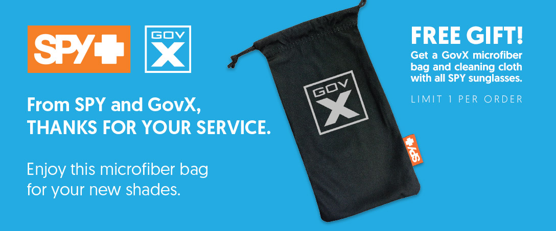 Free GovX microfiber bag with purchase